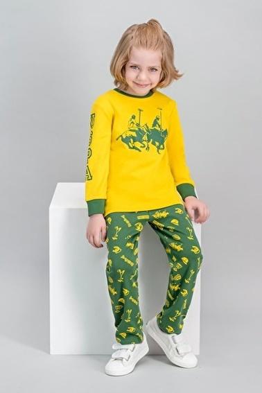 U.S. Polo Assn. U.S. Polo Assn Lisanslı Sarı Erkek Çocuk Pijama Takımı Sarı